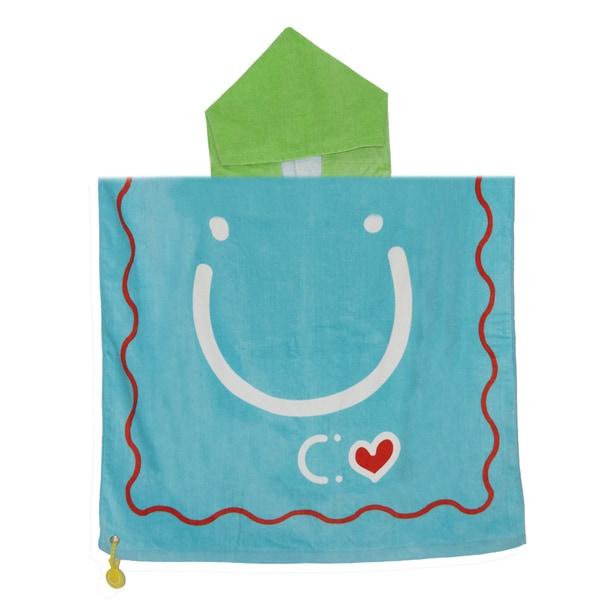 Kids Hooded Towel & Bag Happy
