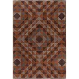 Hand Crafted Buttonwood Leather Area Rug - 8' x 10'