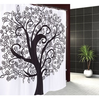 Carnation Home Fashions 'Tree of Life' Fabric Shower Curtain
