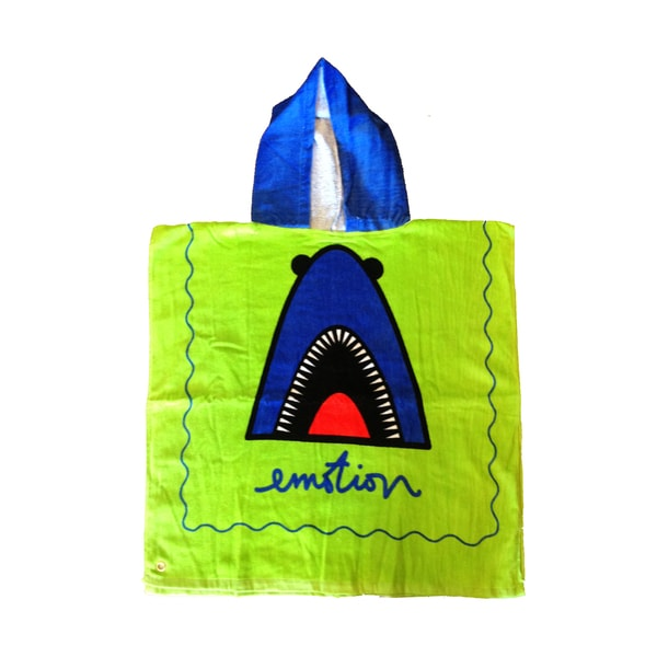 Shop Kids Hooded Towel Amp Bag Shark Free Shipping On