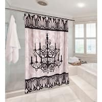 Carnation Home Fashions 'Luminere' Fabric Shower Curtain