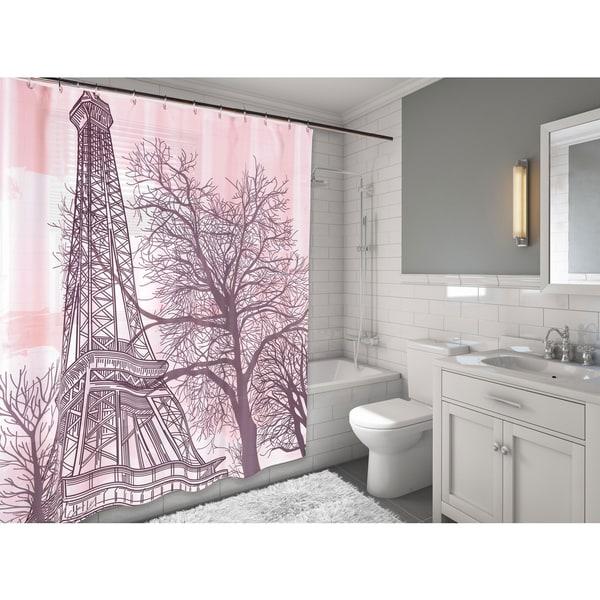 Carnation Home Fashions 'Tour Eiffel' Fabric Shower Curtain