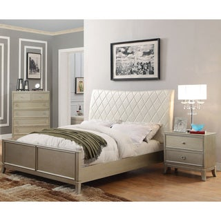Furniture of America Estevia Contemporary 3-piece Silver Grey Bedroom Set