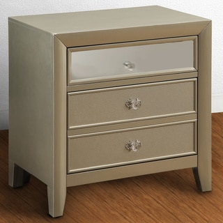 Furniture of America Merria Contemporary Silver 2-drawer Nightstand