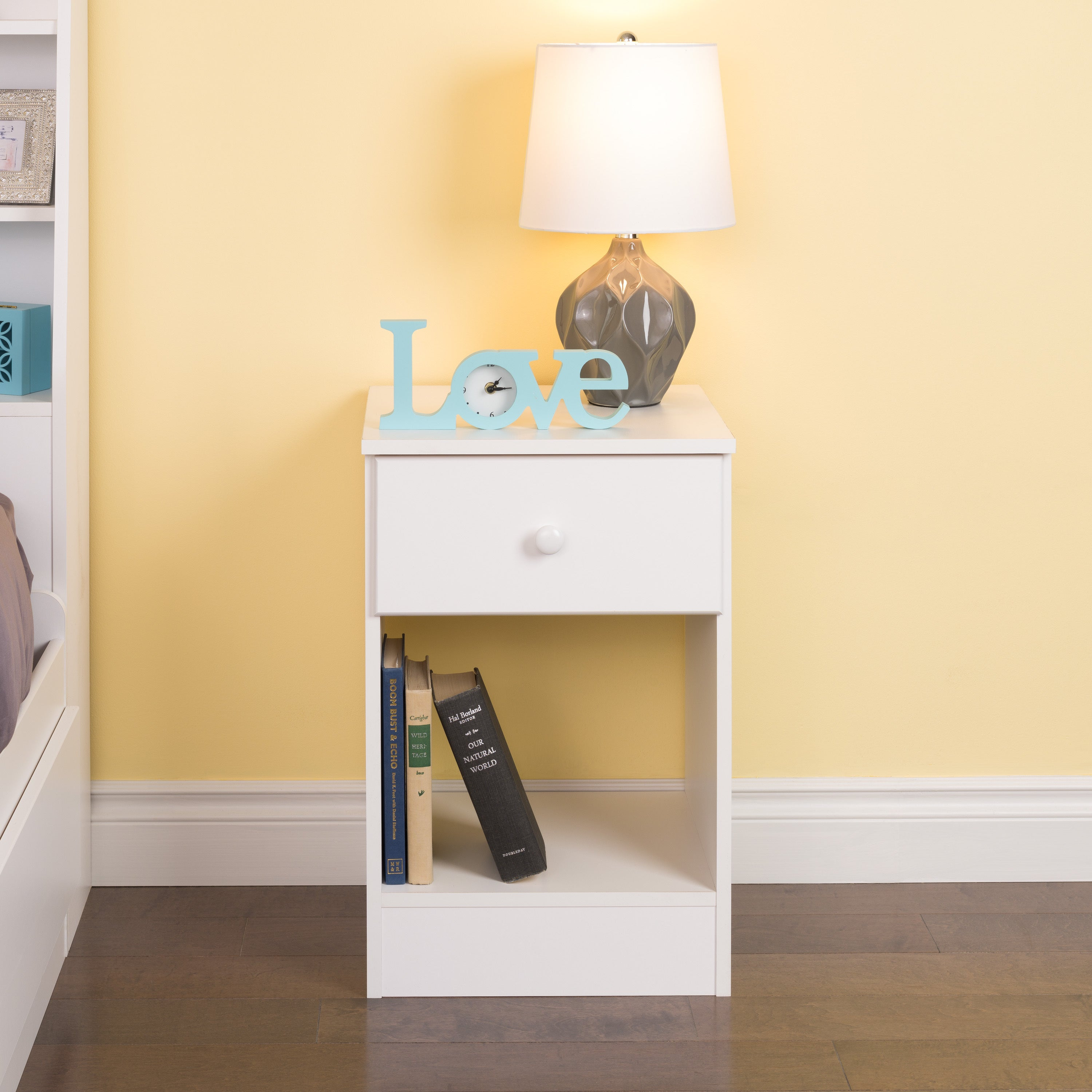 Bella Tall 1 Drawer Night Stand White Overstock 11137355