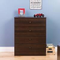 Bella Espresso 4-Drawer Dresser