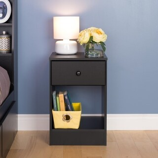 Bella Tall 1-Drawer Night Stand, Black