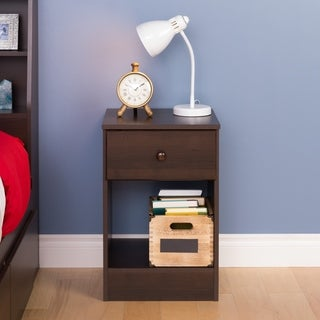 Bella Tall 1-Drawer Night Stand, Espresso