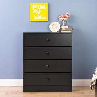 Bella 4 Drawer Dresser, Black