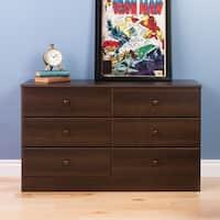 Prepac Bella Espresso-finished Wood Contemporary 6-drawer Dresser