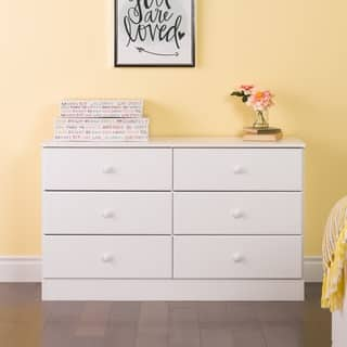 Bella 6-Drawer Dresser, White