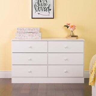 Superbe Bella 6 Drawer Dresser, White