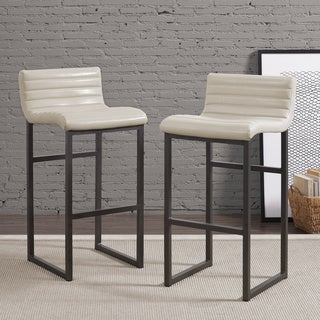 Channel Cream Back Bar Stool (Set of 2)