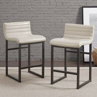 Clay Alder Home Channel Back Cream Counter Stool (Set of 2)