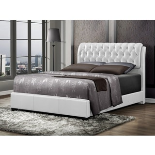 LYKE Home Nobel White Bi-cast Queen Bed