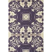 Grand Bazaar Purple Verapaz Hand-woven Rug - 4' x 6'