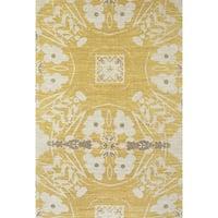 Grand Bazaar Huelva Yellow Area Rug (4' x 6') - 4' x 6'