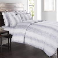 Echelon Home Kalahari 3-piece Cotton Grey Duvet Cover Set