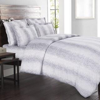 Echelon Home Kalahari 3-piece Cotton Grey Duvet Cover Set