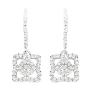 Olivia Leone Sterling Silver 3/5ct TDW White Diamond Earrings (I-J, I2-I3)