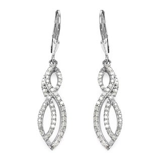 Olivia Leone Sterling Silver 3/4ct TDW White Diamond Earrings (I-J, I2-I3)