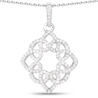 Olivia Leone Sterling Silver 5/8ct TDW White Diamond Pendant (I-J, I2-I3)