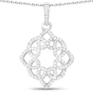 Olivia Leone Sterling Silver 5/8ct TDW White Diamond Pendant|https://ak1.ostkcdn.com/images/products/11137509/P18137094.jpg?impolicy=medium