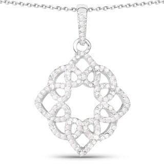 Olivia Leone Sterling Silver 5/8ct TDW White Diamond Pendant