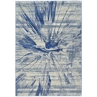 Grand Bazaar Cobalt Omari Power-loomed Rug - 5' x 8'