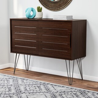 Carson Carrington Walnut Finish Astro Buffet
