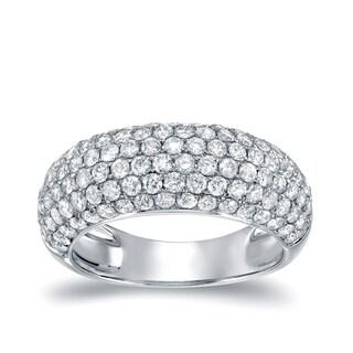 Auriya 14k White Gold 1 1/2ct TDW Diamond Pave Ring