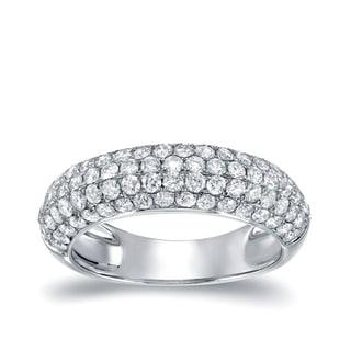 Auriya 14k White Gold 3/4ct TDW Diamond Pave Ring