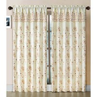 VCNY Aileen Embroidered Curtain Panel with Attached Valance