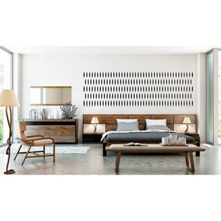 Modrest Rondo Modern Walnut Bedroom Set.