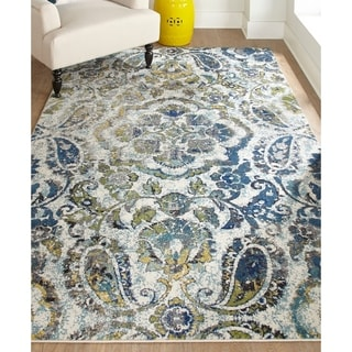 Grand Bazaar Azure Omari Power-loomed Rug (8' x 11')