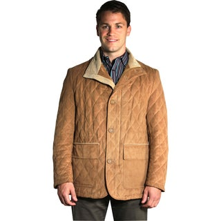 Jean Paul Germain Men's Tan Microsuede Jacket