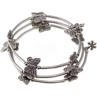 Tibetan Silver Butterfly Bangle (China)