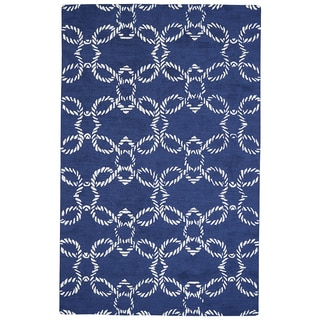 Grand Bazaar Hand-Woven Wool Lonni Rug in Atlantic, (8' x 11')