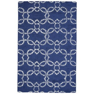 Grand Bazaar Hand-Woven Wool Lonni Rug in Atlantic, 9' x 13'