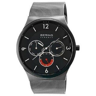 BERING Time 33440-077 Men's Ceramic Collection Watch with Mesh Band