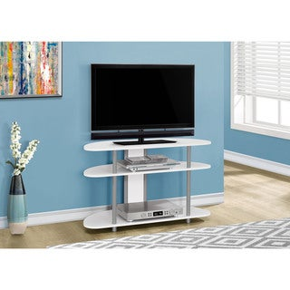 "TV Stand-38""L/White With Silver Accent"
