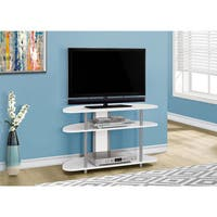 """TV Stand-38""""L/White With Silver Accent"""