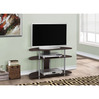 "TV Stand-38""L Cappuccino With Silver Accent"