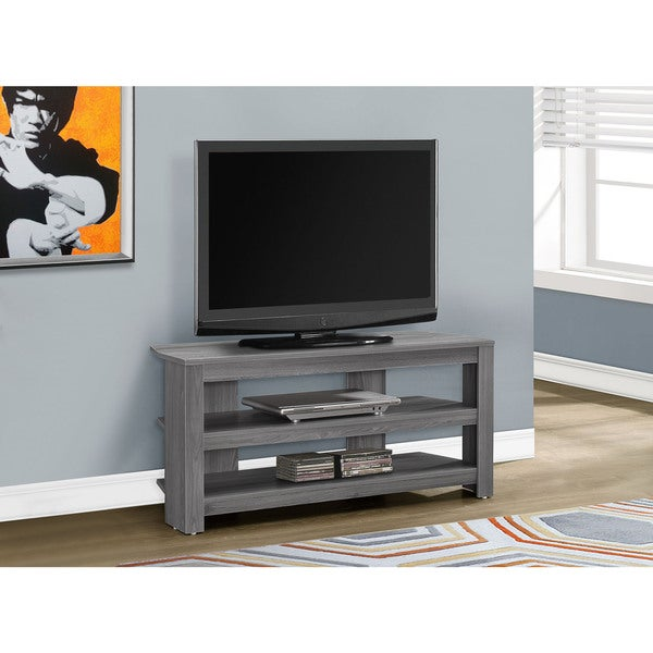 Shop Tv Stand 42 Quot L Grey Corner Free Shipping Today