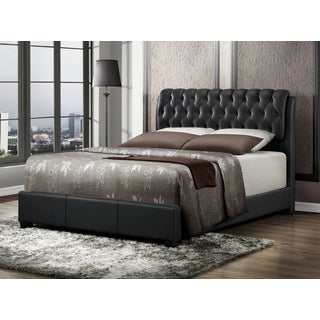 LYKE Home Nobel Black Bi-cast Queen Bed