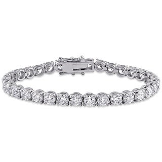 Miadora Signature Collection 18k White Gold 16ct TDW Diamond Tennis Bracelet (G-H, SI1-SI2) (IGI certified)