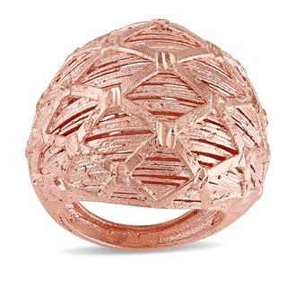 Miadora Signature Collection 18k Rose Gold Italian Filigree Cocktail Ring