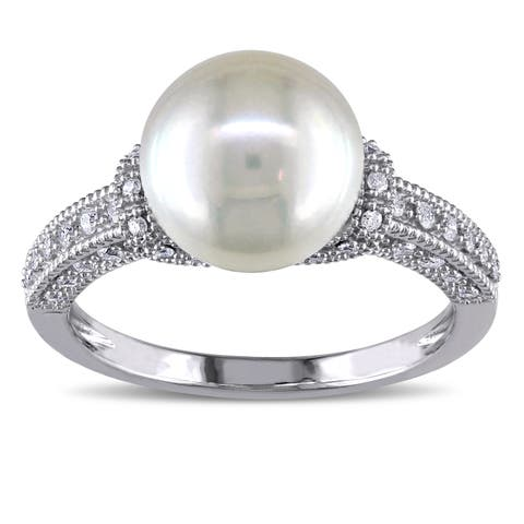 36064f1e580a Buy Vintage Pearl Rings Online at Overstock | Our Best Rings Deals