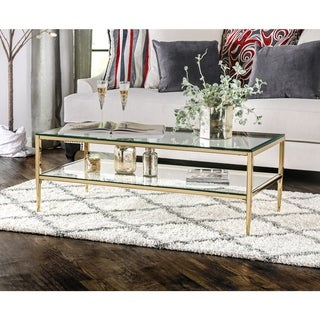 Link to Furniture of America Luch Contemporary Metal 1-shelf Coffee Table Similar Items in Living Room Furniture