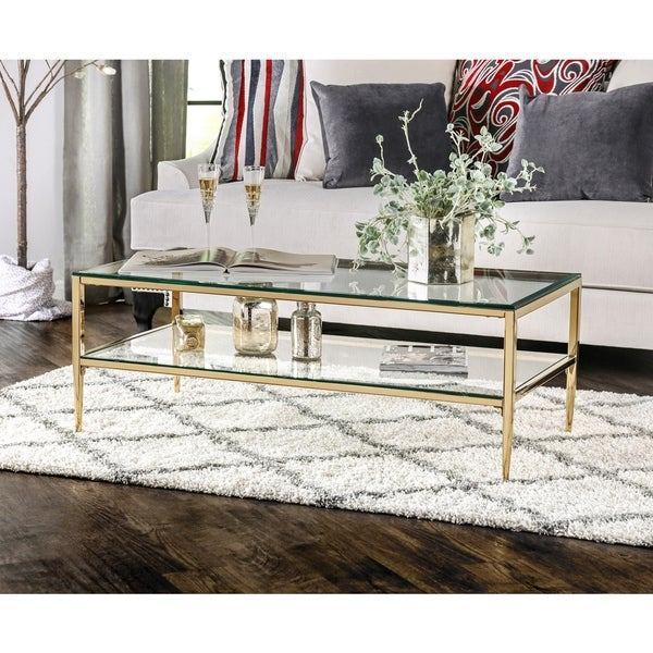 Furniture of America Luch Contemporary Metal 1-shelf Coffee Table. Opens flyout.